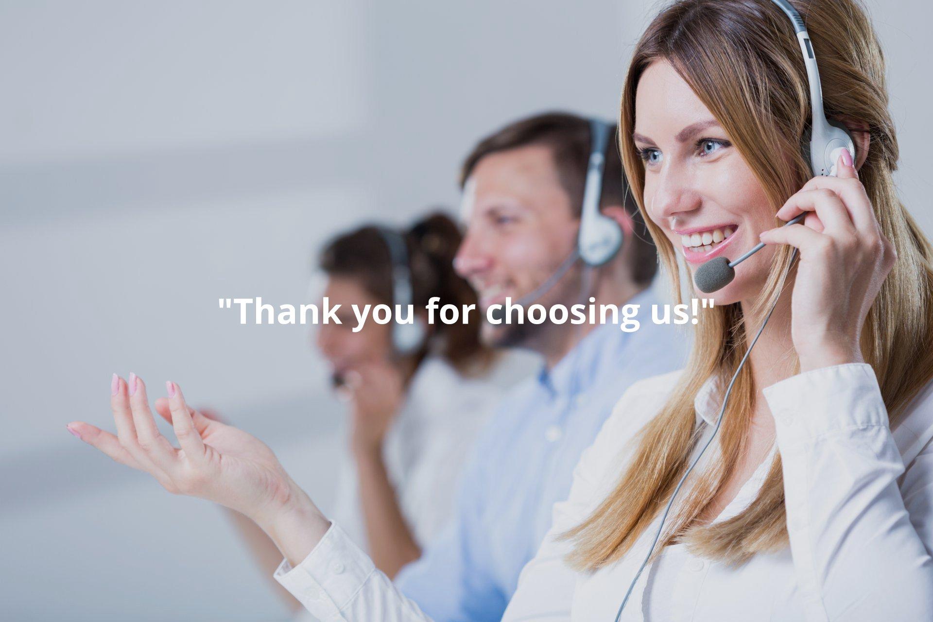 Thanks for Choosing Us